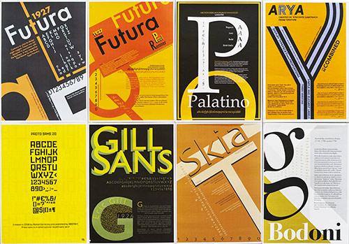 Graafisen suunnittelun koulutuksessa opiskellaan typografian perusteita
